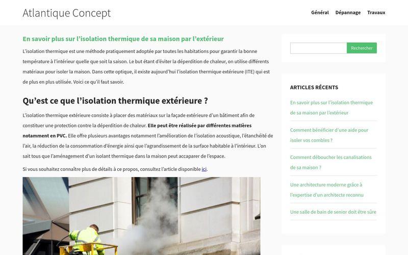 En savoir plus sur l'isolation thermique de sa maison par l'extérieur - Atlantique Concept