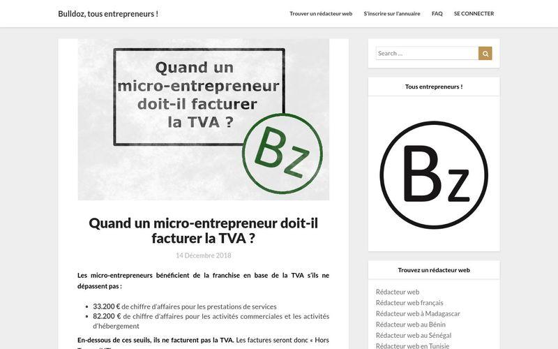 Quand un micro-entrepreneur doit-il facturer la TVA? - Bulldoz, tous entrepreneurs !