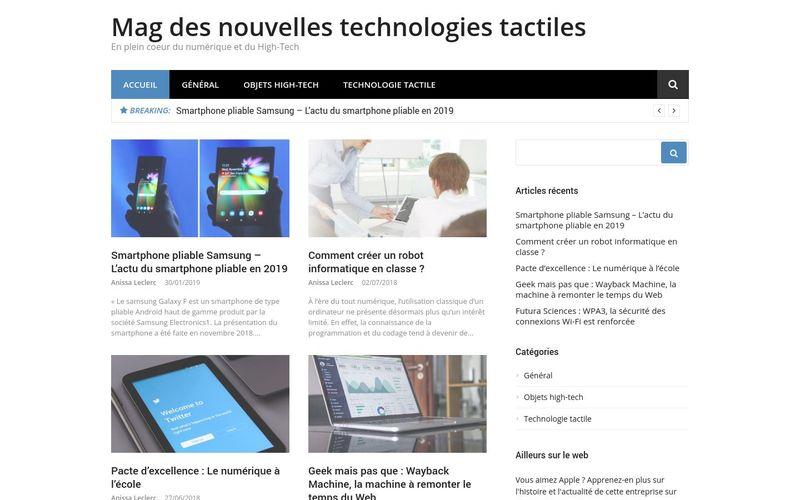 Mag des nouvelles technologies tactiles - En plein coeur du numérique et du High-Tech