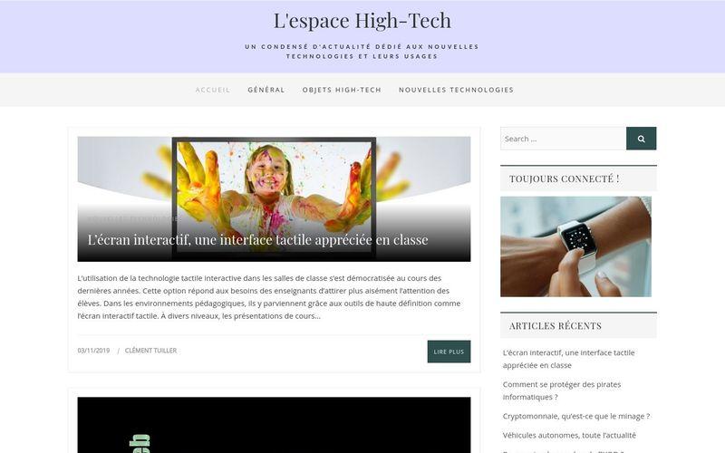 L'espace High-Tech - Un condensé d'actualité dédié aux nouvelles technologies et leurs usages