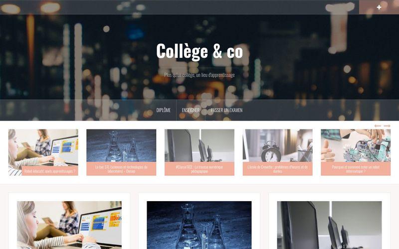 Collège & co : plus qu'un collège, un lieu d'apprentissage