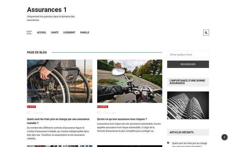 Assurances 1 - Uniquement les premiers dans le domaine des assurances