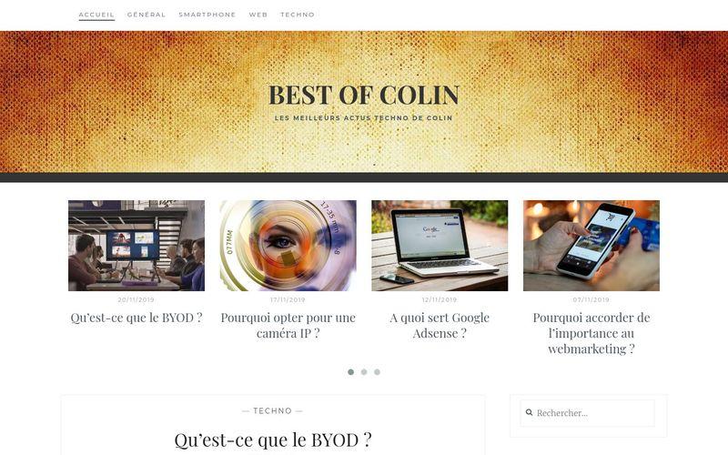 Best of Colin - Les meilleurs actus techno de Colin
